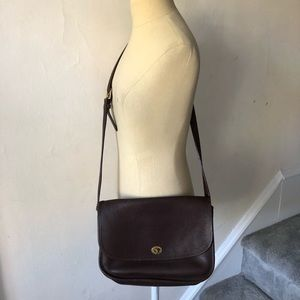 Vintage Coach Leather Large Crossbody Bag